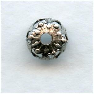Favorite Filigree Bead Caps 7mm Oxidized Silver (24)
