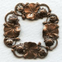 ^Floral Framework Stampings 41mm Oxidized Copper (3)