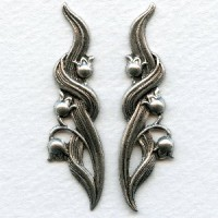 Lily of the Valley Flourishes Oxidized Silver