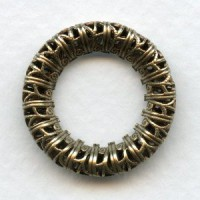 Filigree 23mm Ring Link Connectors Oxidized Brass (2)