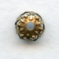 Favorite Filigree Bead Caps 7mm Oxidized Brass (24)