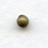 Tiny Smooth Round Spacer Beads Oxidized Brass 3mm