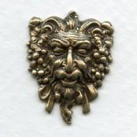 Dionysus Greek God of Wine Oxidized Brass 21mm (2)