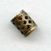 Filigree Spacer Tubes 8x6mm Oxidized Brass (12)