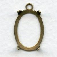 Framework Setting 18x13mm Oxidized Brass (6)