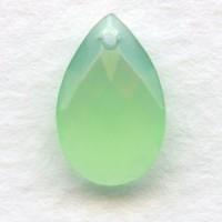 Briolette Green Opal 13x8.5mm Pear Shape Glass Pendant