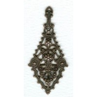 The Ultimate Filigree Pendant Drops Copper OX 55mm