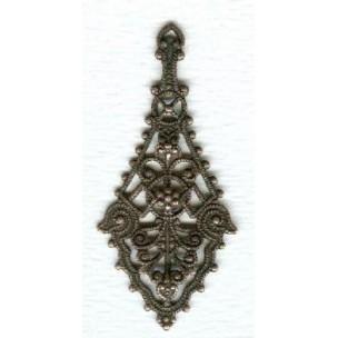 ^The Ultimate Filigree Pendants Oxidized Copper 55mm (2)