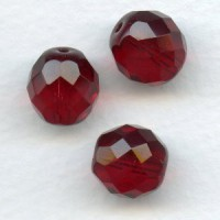 Garnet Preciosa Round Faceted Beads 12mm