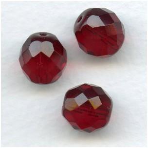 Garnet Preciosa Round Faceted Beads 12mm