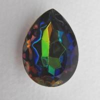^Pear Shaped Vitrail Medium Watermelon Stone 18x13mm (1)