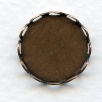 Lace Edge Settings 15mm Oxidized Copper