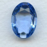 Light Sapphire Glass Oval Unfoiled Stones 12x10mm (2)