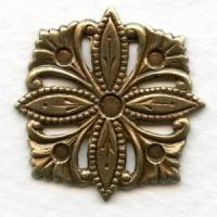 Decorative Square Floral Embellishment Oxidized Brass (4)