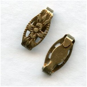 Snap Clasps Bails or Connectors Oxidized Brass 10mm