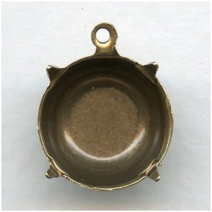 Round 14mm Settings Oxidized Brass (12)