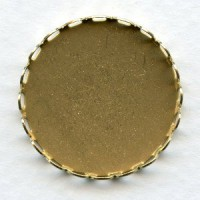 Lace Edge Settings Round 26mm Raw Brass