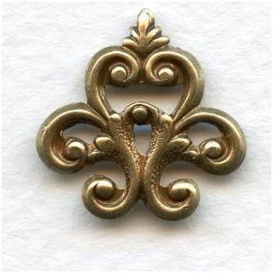 Corner or Finial Detail Oxidized Brass 18mm