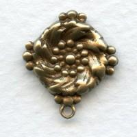 Ornate Pendants for Earring Tops Oxidized Brass 18mm