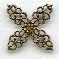 Small Filigree Wrap Oxidized Brass 20mm (6)