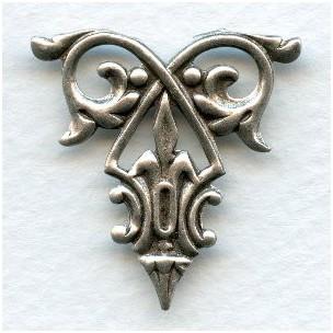 Decorative Filigree Ornament Oxidized Silver