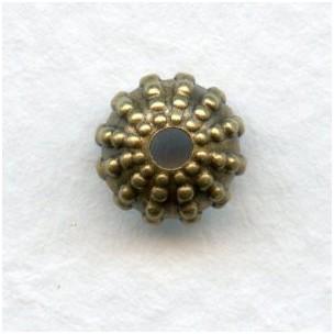 Beaded Detail Bead Caps 7mm Oxidized Brass (24)