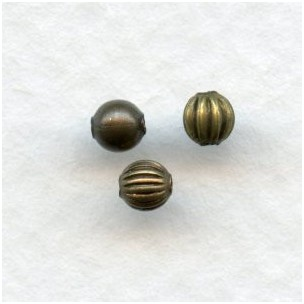 Tiny Round Spacer Beads Oxidized Brass 3mm MIXED