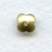 Four Petal Smooth Bead Caps Raw Brass 7mm