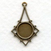 Delicate 7mm Setting Drops Oxidized Brass (12)