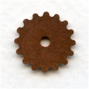 ^Steampunk Wheels Oxidized Copper 16mm (12)