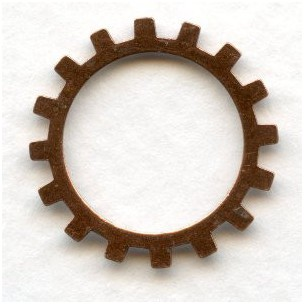 Steampunk Cogs Oxidized Copper 19mm (12)