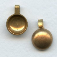 Pearl Cups with Open Loop Raw Brass 10mm