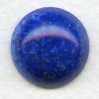 Lapis Blue Glass Cabochon 18mm