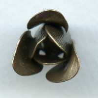 Trumpet Flower Double Layer Bead Caps Oxidized Brass 18mm