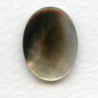 Black Tahiti Pearl 20x15mm Shell Cabochon