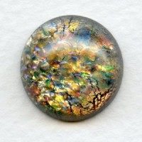 Multi Color Glass Opal Cabochon 18mm European