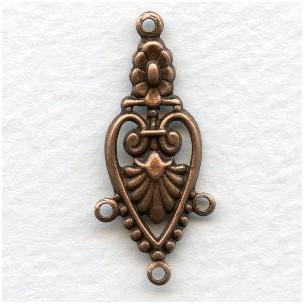 Decorative Three Strand Connector Oxidized Copper (6)