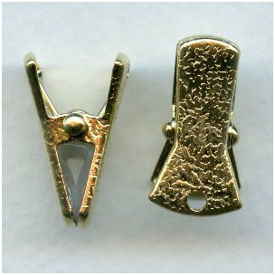 Sweater Guard Clip or Eye Glass Clip Gold Plated