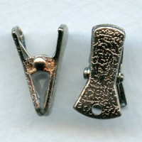 Sweater Guard Clip or Eye Glass Clip Nickel Plated
