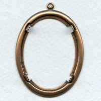 ^Smooth Edge Oxidized Copper Settings 40x30mm (2)