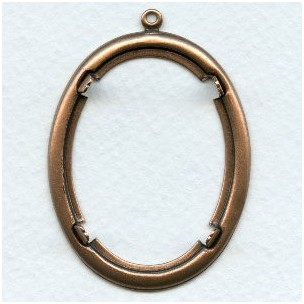 Smooth Edge Oxidized Copper Settings 40x30mm (2)