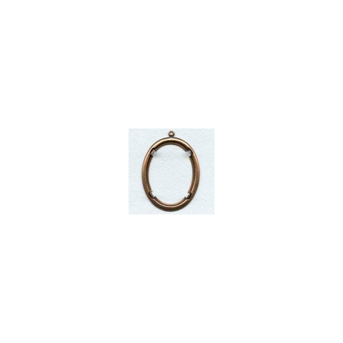 Smooth Edge Oxidized Copper Plated Settings 40x30mm