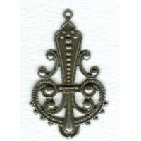 Spectacular Large Pendant Drops Oxidized Silver ^