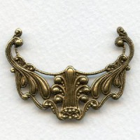 Victorian Filigree Focal Connector Oxidized Brass 48mm (1)
