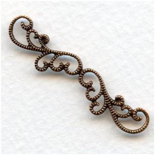 ^Elegant Filigree Detail Oxidized Copper