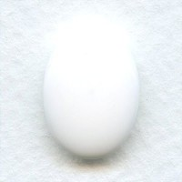 Chalk White Buff Top Glass Cabs 18x13mm (2)