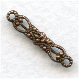 Tiny Filigree Connector 19mm Oxidized Copper (12)