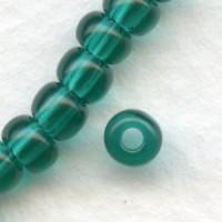 ^Czech Glass Seed Beads Blue Zircon 4mm Size 6/0