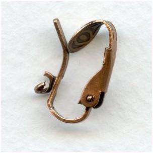 Pierced Look Clip Earring Findings Oxidized Copper (24)
