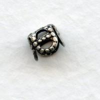 Square Filigree 5mm Bead Caps Oxidized Silver (24)